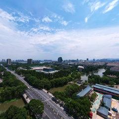 柯桥蓝天商圈无人机航拍全景图